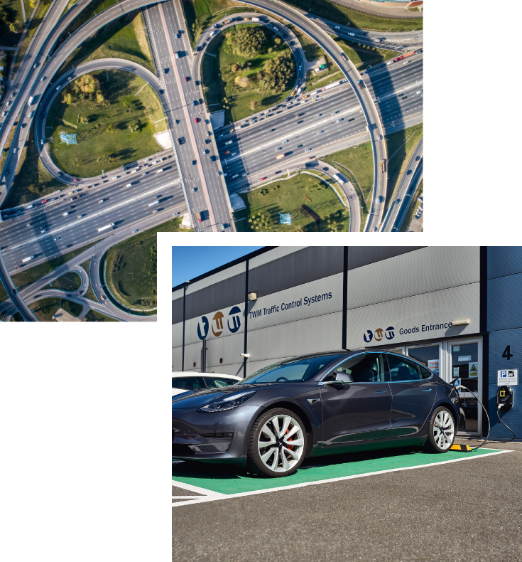 electric vehicle charging point collage